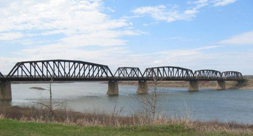 South SK river at St. Louis bridge